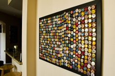 Beer cap wall art