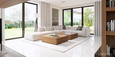 Find home projects from professionals for ideas & inspiration. Projekt domu HomeKONCEPT 15 by HomeKONCEPT White House Interior, Home Interior Design, Big Living Rooms, Living Room Decor, Living Room Theaters, Concept Home, Luxury Living, Home Fashion, Apartment Living