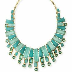 Kate spade beach gem statement  necklace Kate spade beach gem high end stament necklace.Lovely this is a SOLD OUT ITEM kate spade Jewelry Necklaces