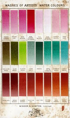Old Windsor and Newton water colour chart