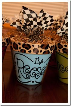 Cookies in a personalized terracotta pot....I love this for teacher's and friend gifts.