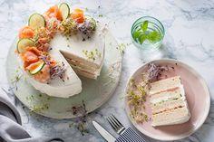 Een saaie boterham met kaas? Nee, we maken er gewoon een taart van. Piece of cake! - recept - Allerhande