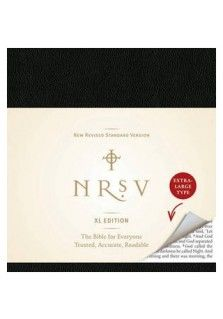 The NRSV XL - the Bible for everyone, with print you can read. Harper Bibles introduces to its classic line of Bibles the XL Edition - a beautifully designed and uniquely square-shaped Bible with extra-large text.