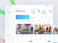 Health App Meal Planner Exploration designed by Masudur Rahman . the global community for designers and creative professionals. Meal Planning Website, Meal Planning App, Meal Planner, Web Dashboard, Dashboard Design, Design System, App Design, Mobile Application Design, Branding