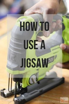 Tools How to Use a Jigsaw - ToolBox Divas wood projects projects diy projects for beginners projects ideas projects plans Woodworking Guide, Woodworking Workshop, Popular Woodworking, Woodworking Furniture, Fine Woodworking, Woodworking Crafts, Wooden Furniture, Woodworking Software, Woodworking Apron