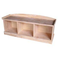 International Concepts Wood Storage Bench