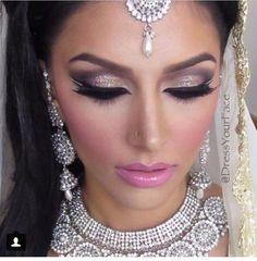 Versace Vuitton Dramatic Bridal Makeup, Asian Bridal Makeup, Pakistani Bridal Makeup, Indian Wedding Makeup, Indian Makeup, Bridal Makeup Looks, Bride Makeup, Wedding Hair And Makeup, Indian Bridal