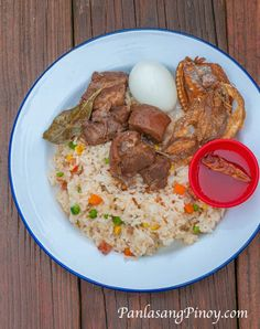 Pork Paksiw with Jeprox and Fried Rice Breakfast