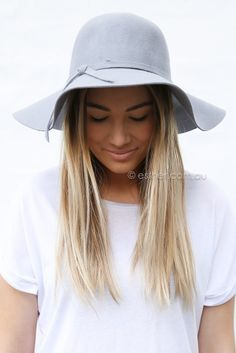 annie wide brim hat - grey | Esther clothing Australia and America USA, boutique online ladies fashion store, shop global womens wear worldwide, designer womenswear, prom dresses, skirts, jackets, leggings, tights, leather shoes, accessories, free shipping world wide. – Esther Boutique