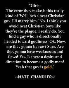 Online dating matt chandler