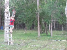 Zip line.yep, we have one! Zip line.yep, we have one! Kids Zipline, Backyard Zipline, Backyard Gazebo, Backyard For Kids, Zip Line Backyard, Garden Projects, Diy Projects, Outdoor Crafts, Cool Inventions
