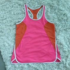Jockey sports top Jockey sports top. Colors pink, peach and white. Not new, good condition. Size medium. Jockey Tops