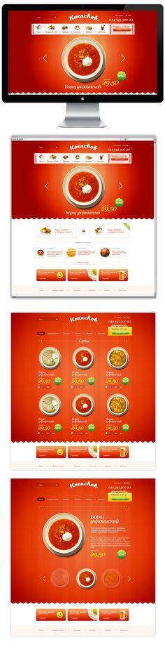 Kozachek online food shop by Apostol Nikolay, via Behance  We love Webdesign, Wordpress and SEO. Come visit us in Vienna, Austria or at http://www.ostheimer.at
