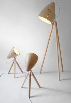 modern day pixar :P Johan Lindsten, Wood lamps for Lindsten Form, Interior Desing, Interior Lighting, Cool Lighting, Lighting Design, Led, Luz Artificial, Objet Deco Design, Luminaire Design, Wood Lamps