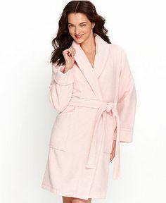 Charter Club Women Warm Long Super Soft Hot Pink Hoodie Robe Pockets Small
