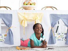The crafting experts at HGTV.com show you how to make an easy, no-sew tablecloth playhouse for kids in just a few easy steps.