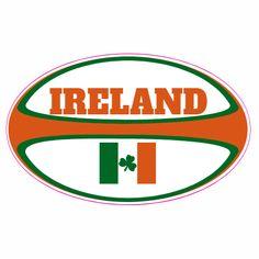 Ireland Rugby Ball Sticker Custom Decals, Custom Stickers, Ireland Rugby, Rugby World Cup, Stickers Online, Art Logo, Clip Art, Ads, Journal