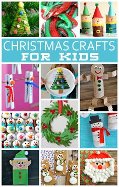 20+ Christmas Crafts For Kids   The cutest Kids Christmas Crafts!