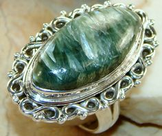 Seraphinite Sterling Silver Ring : Wholesale Ring Best Price