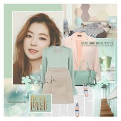 """In love with pastels"" by rainie-minnie ❤ liked on Polyvore featuring M&Co, Fendi, Warehouse, New Look, ABS by Allen Schwartz, Kate Spade and Lanvin"