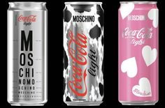 Tres chic! Coca-Cola and Italian luxury fashion house Moschino have teamed up to create a line of limited-edition Coke light cans and bottles, which were unveiled at Milan Fashion Week.