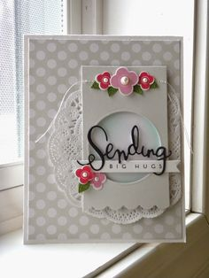 Paper Wishes: ~PTI flowers-Sending die from Simon Says Stamp