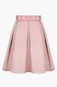 Pink Bow Pleated Skirt