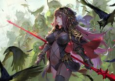 Tagged with art, anime; Art by QMO Fate Zero, Character Concept, Character Art, Character Design, Fate Characters, Fantasy Characters, Fate Stay Night, Fate Grand Order Lancer, Scathach Fate