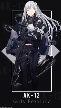 I just edited it If you like it please give a +fav and don't forget to comment ~ Cool Anime Girl, Beautiful Anime Girl, Kawaii Anime Girl, Anime Art Girl, Manga Girl, Cool Girl, Anime Military, Military Girl, Ak 12