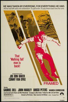framed 1975 movie poster