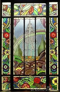 Emerald City Stained Glass Window