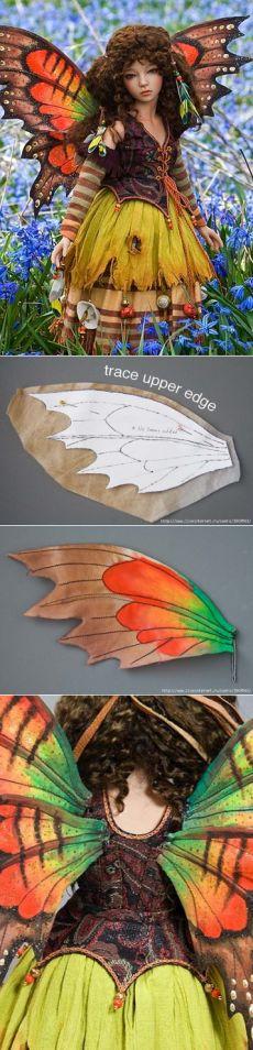 Делаем крылья бабочки...