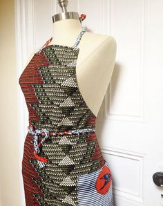 AFRICAN WAX PRINT APRON