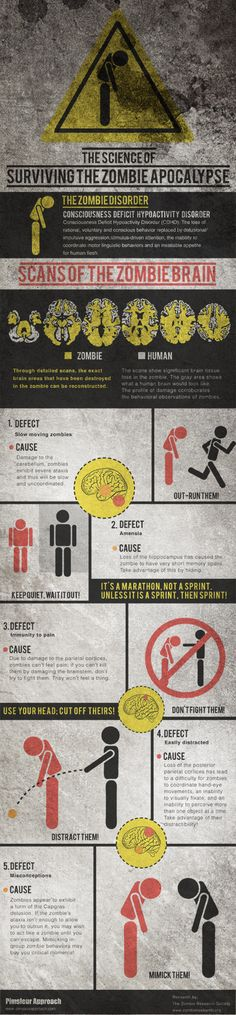 Infographic: Science of Surviving the Zombie Apocalypse