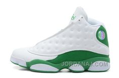 hot sales d9beb 1fa25 Nike Air Jordan 13 Männerschuhe Weiß Grün Jordan 13, Jordan Xiii, Jordan  Retro,