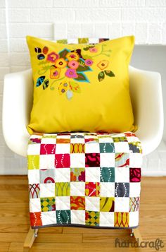 Sometimes simple patchwork is the best way to showcase the fabric!