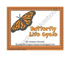 Butterfly Life Cycle anchor chart freebie! from Crazy in Pre K on TeachersNotebook.com (8 pages)  - Free anchor chart pieces and pctures for the Butterfly Life cycle!