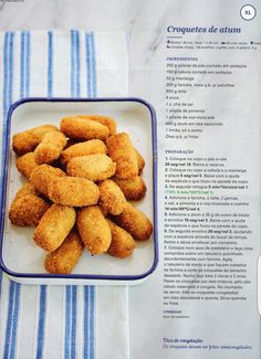 Croquetes de Atum Multicooker, After School Snacks, Breakfast Snacks, Perfect Food, Appetizers For Party, Food For Thought, Nom Nom, Food And Drink, Yummy Food