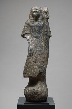 Statue porte enseigne de Saiset, règne de Mérenptah, XIXe dynastie. Kunsthistorisches Museum