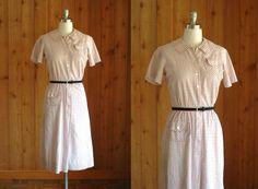 vintage 1950s dress / 50s nelly don day dress / size small. $55.00, via Etsy.