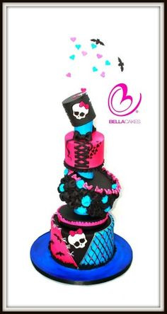 Monster high themed cake bellacakes.nz