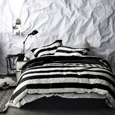Duvet Cover Black & White Striped Queen - Aura 2014 : Home - Bed