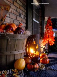 front porches decorated for halloween - Google Search#