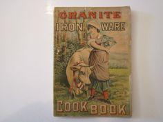 "Graniteware ""Granite Iron Ware"" Cookbook, 64 Pages, Graniteware Catalog Gray Granite, Enamel Ware, Catalog, Iron, Antiques, Antiquities, Antique, Brochures, Old Stuff"