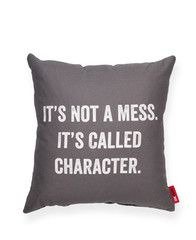 It's Not a Mess Grey Throw Pillow