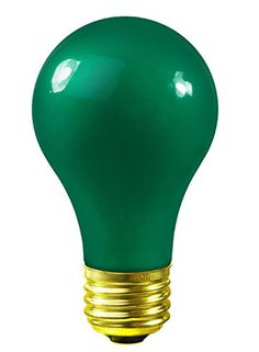 Pack of 25 Opaque Green E26 Base Replacement A19 Light Bulbs  25 Watts * You can get more details by clicking on the image.