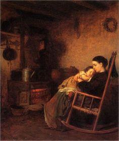 Durmiendo en los brazos de una madre: el paraíso.