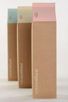 Creamwheat | Packaging by Kate Mikutowski, via Behance