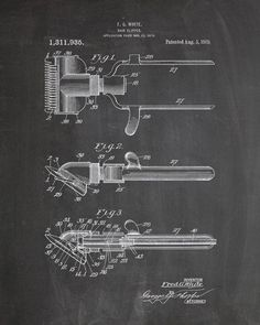 Hair Clipper Patent Print - IndustrialPrints