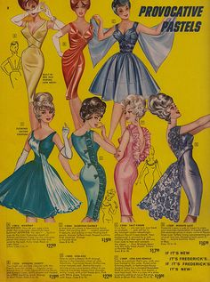 Provactive Pastels by Fredericks of Hollywood 1964